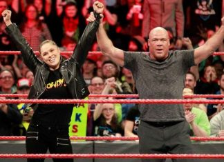 Kurt Angle y Ronda Rousey